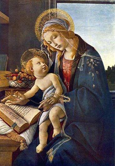 1. Сандро Боттічеллі. Мадона з книгою, 1480-і р. Музей Польді Пеццолі, Мілан.