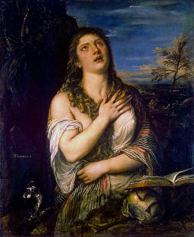 2. Тиціан Вечеліо. Каяття Марії Магдалини,1565 р. Ермітаж, Санкт-Петербург.