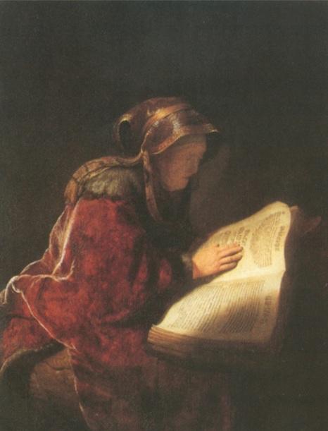3. Рембрандт Харменс ван Рейн. Жінка, яка читає (Портрет матері у образі пророчиці