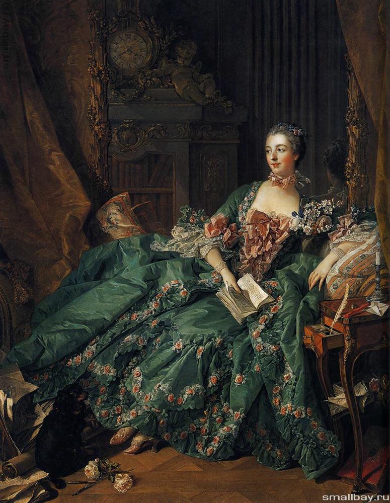 5. Франсуа Буше. Портрет мадам де Помпадур, 1756 р., Стара Пінакотека, Мюнхен