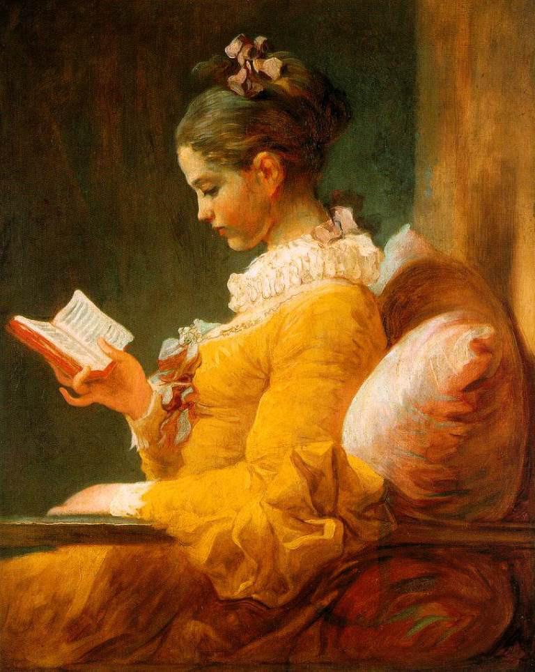7. Жан Оноре Фрагонар. Юна дівчина, яка читає, 1787 р., Національна галерея, Вашінгтон